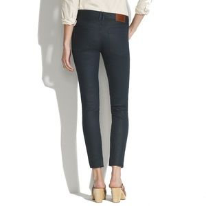 Madewell Skinny Ankle Jeans in Coated Lakestorm
